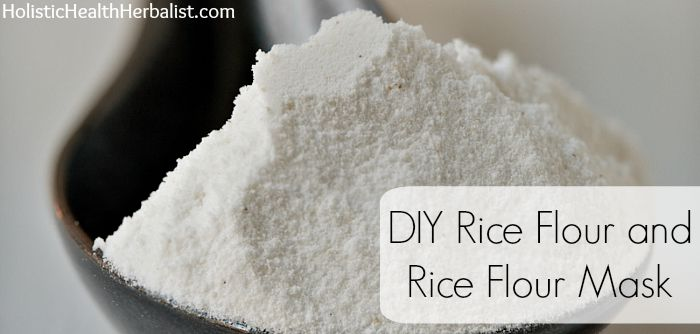 Rice Flour and Rice Flour Mask