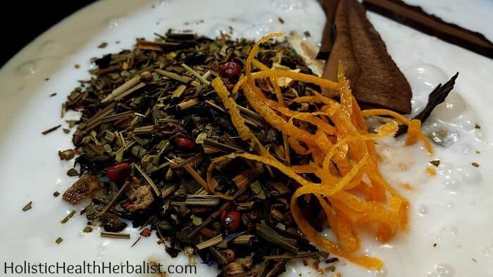 homemade Astragalus Chai Tea Panna Cotta