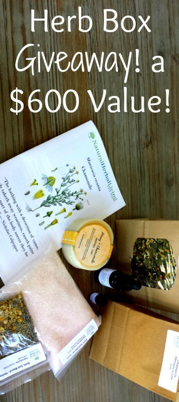 enter to win an herb box giveawaay