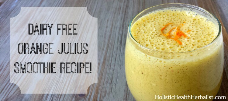 how to make a dairy free orange julius