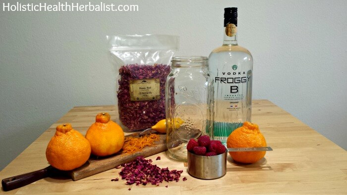 Raspberry Rose Liqueur ingredients