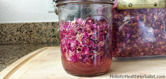 red rose infused witch hazel