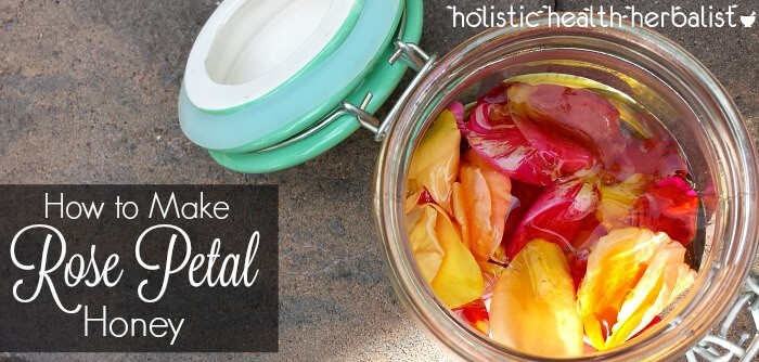 simple recipe for how to make rose petal honey